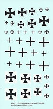 GR-117 - WWI German Aircraft Markings - 1/160-1/100 Decals
