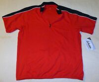 LARGE Men's Schwinn Pro Red & Black Cycling Jersey Zipper Pouches Bike Bicycle