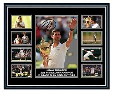 NOVAK DJOKOVIC 2018 WIMBLEDON CHAMPION SIGNED LIMITED EDITION FRAMED MEMORABILIA
