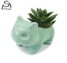 Pokemon Ceramic Flowerpot Bulbasaur Planter Cute White / Green Succulent Plants