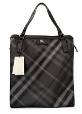 Burberry Tote Nylon Buckleigh Shoulder Bag Shopper Charcoal Nova Check New