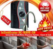 ❗️ InSinkErator Wave Instant Hot & Cold Water Dispenser System Faucet & Tank New