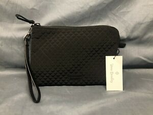 Vera Bradley Iconic Pouch Wristlet Classic Black NEW WITH TAGS!