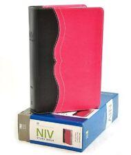 **NIV 2011 Study Bible -Black/ Pink Leathersoft  *Personal Size* 8pt -NEW! 369