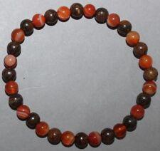 "Bracelet Cornaline et Bronzite 6 mm ""Large"""