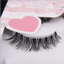 5 Pairs Natural Eye Lashes Makeup Handmade Thick Fake Cross False Eyelashes JD