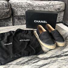 Chanel Black Satin Espadrilles EU 37 (UK 4)
