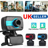 USB 2.0 Web Cam Camera Webcam with Microphone for Computer PC Laptop Desktop UK