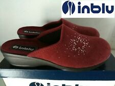 """IN BLU   """"BELLISSIMA PANTOFOLA DONNA IN CAMOSCIO COL. BORDEAUX N° 41 NUOVO"""""""