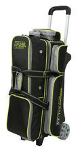 Storm Rolling Thunder 3 Ball Triple Roller Bowling Bag Black Grey Lime