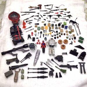 Vintage Lot 1980s GI Joe Figure ATV Moto Vehicles Dog Backpacks Weapons Guns