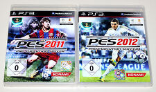 2 PLAYSTATION 3 SPIELE SET - PRO EVOLUTION SOCCER 2011 & 2012 - FUSSBALL PES PS3