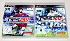 2 PLAYSTATION 3 giochi Set-Pro Evolution Soccer 2011 & 2012-CALCIO PES ps3