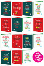 Super Bonbon drôle rude offensive Noël Noël Cartes Multi Pack de 15 Cheeky