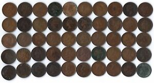50 pc lot Canadian Large Cents. ***NO RESERVE***