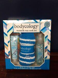 BODYCOLOGY Fragrance Body Mist, Body Cream & Warm & Cozy Socks Set.