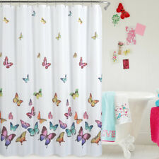 "Waterproof Polyester Shower Curtain 72"" x 72"" Butterfly #3 + 12 Hooks"