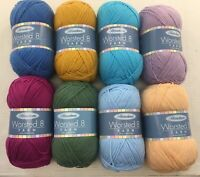 New - Herrschners Worsted 8 Yarn 8 Oz Ball 489 Yards Weight #4   LOTS OF COLORS