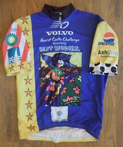 VOmax Volvo Hearst Castle Purple Full Zip Cycling Jersey-Haring-LG Best Buddies