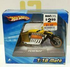 2004 Hot Wheels Moto Ferenzo 1:18 1/18 Yellow HTF