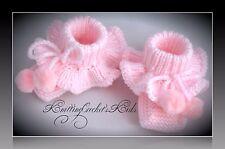 Handmade knitting baby slippers (1 pair)