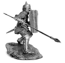 Tin toy soldier Knight of the Teutonic Order. Metall sculpture 54 mm