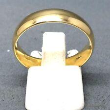 "AWESOME 9CT YELLOW GOLD UNISEX PLAIN ""WEDDING BAND"" RING   SIZE ""T""   1909"