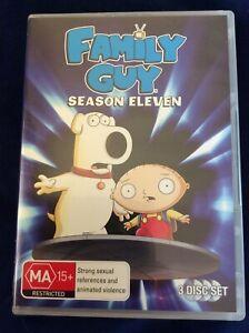 Family Guy : Season 11 - Region 4 DVD Set - Great Condition - FREE POST