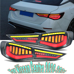 Set For Nissan Sentra 2020-2021 LED Rear Lamp Tail Light Brake Stop Smoked lens