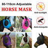 Horse Fly Mask w/ Ears Hood Full Face Mesh Protection Anti-UV Repellent Mosquito