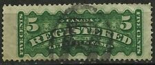CANADA, REGISTERED LETTER MAIL, 5 CENTS, USED