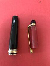 Authentic Mont Blanc   Black And Gold trims Ballpoint pen  Parts Repair R7