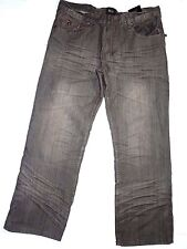 ROK mens relaxed fit  black denim JEANS  size 38  X 32  retail $150