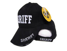 Embroidered Black Sheriff Police Law Enforcement Military Hat Cap