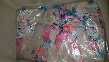 Joules GoLightly Grey Floral Packaway Jacket Waterproof Mac Coat Women Size 10