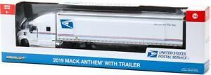 Greenlight 1/64 2019 Mack Anthem 18 Wheeler Tractor-Trailer - USPS 30090