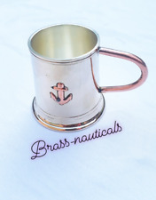 brass goblet mini wine glass with handle for chrtistmas gift copper anchor shot
