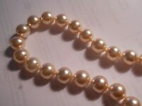 """HOBE Vintage 6mm Genuine Cream Majorca Pearl 30.5"""" Necklace hand knotted mint"""