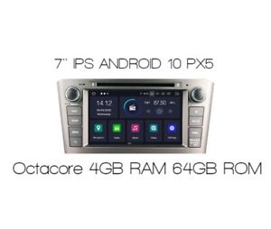 ANDROID 2DIN AUTO RADIO for TOYOTA AVENSIS T25 4GB RAM 64 GB ROM PX5 NAVI 0%