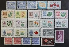 Canada 1964 Complete Year Set, MNH OG, 25 Issues Incl. X-mas Tagged, #'s 414-436