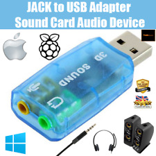 3.5mm Mic Headphone Jack To USB | Stereo Sound Card Audio Adapter | PC Mac Linux