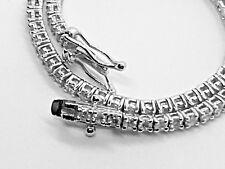 18K White Gold Tennis Bracelet - 2.00ct Round Brilliant Cut Certified Diamonds