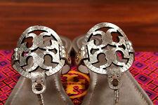 2 LEFT NIB Tory Burch Rose Gold Glossy Snake Print Miller Leather Sandal 8 $225