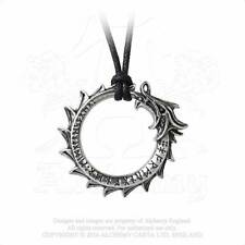 Alchemy Gothic Pewter Jormungand Ouroboros Serpent Dragon Pendant Necklace P774