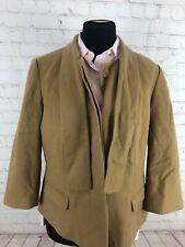 Talbots Women's Beige Wool Blazer Size 16P $295