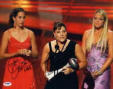 CAT OSTERMAN SIGNED AUTO'D 11X14 PHOTO PSA/DNA COA JENNIE FINCH LISA FERNANDEZ A