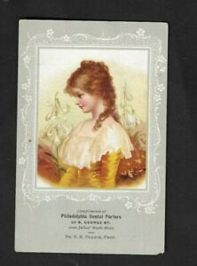 1890's York,PA - Philadelphia Dental Parlors Advertising Card