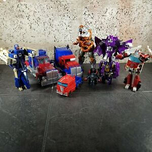 Huge Transformers Bundle Of Incomplete Figures X9 ~ Optimus Prime ~ Grimlock Etc