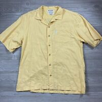 Vintage Columbia Short Sleeve Yellow Camp Shirt Men's Size M B71