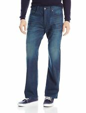 Mens Levi 569 Loose Straight Fit Stretch Blue Jeans Size W32 x L34 - 005690218